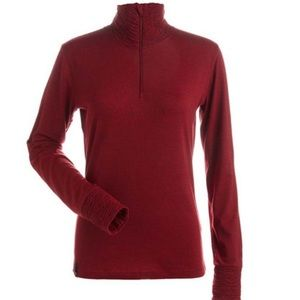 NILS Holly Zip Red Turtleneck Baselayer Top